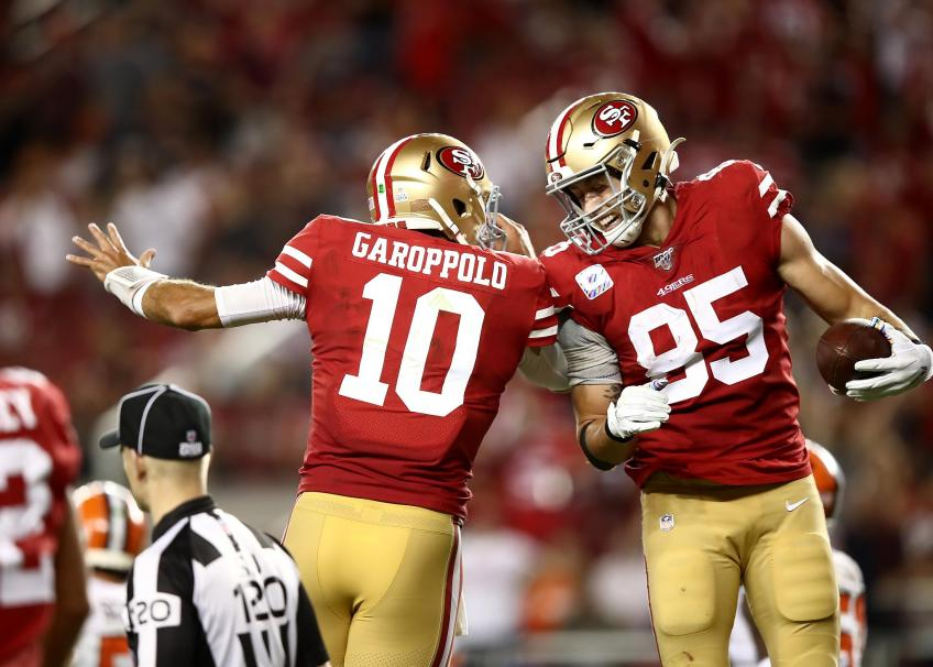 49ers' Jimmy Garoppolo, George Kittle out several weeks