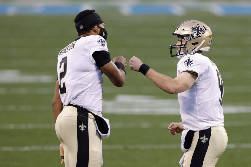 Saints' Jameis Winston gets emotional while talking about Drew Brees
