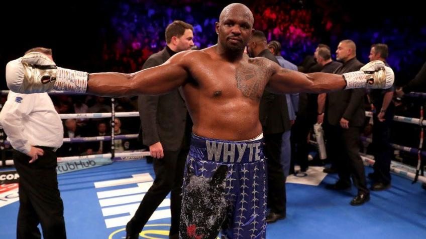 Whyte revealed a potential name for the next fight